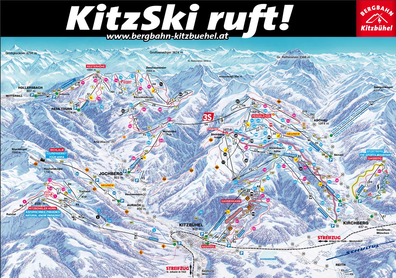 Panoramaoverzicht Bergbahn Kitzbühel